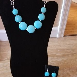 Betty Rock- Turquoise and Silver Set